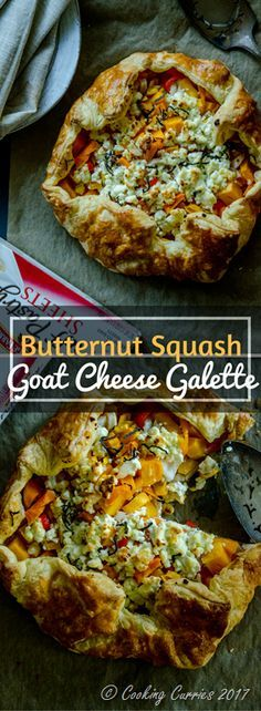 Butternut Squash Goat Cheese Galette https://ooh.li/7c61ed1 Fall dinner recipe with Pepperidge Farm®️ Puff Pastry #ad