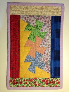 Patchwork twister placemat