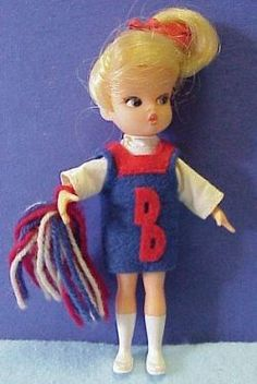 thought maybe i made her outfit until i found this on line....i used to make barbie clothes out of scraps from my grandmas sewing.