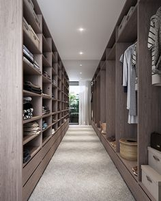 Discover the very best dressing space concepts, layouts & ideas to match your design. Browse through images of clothing rooms & wardrobes to develop your perfect residence. Walk In Closet Design, Bedroom Closet Design, Closet Designs, Walk In Robe Designs, Bedroom Decor, Luxury Home Decor, Luxury Interior Design, Interior Design Kitchen, Luxury Homes