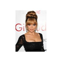 Nicole Richie Hairstyles How To Do A Bun ❤ liked on Polyvore featuring hair, hairstyles and bun
