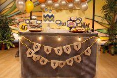 Masculine Man Birthday Party ideas!