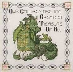 Free Cross Stitch Patterns: Dragon Treasure