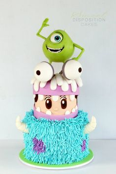 Monster's Inc Cake - For all your cake decorating supplies, please visit craftcompany.co.uk