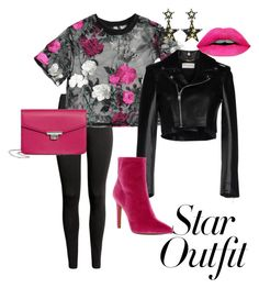 """""""🖤🌺"""" by maylyris on Polyvore featuring Mode, Yves Saint Laurent, Jessica Simpson, MANGO und StarOutfits"""