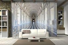 optische Täuschung Wohnzimmer Wandgestaltung Ideen