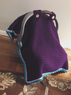 Crochet car seat canopy. Can't wait to make this for a friend or relative expecting a little one!!
