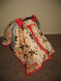 Hey, I found this really awesome Etsy listing at http://www.etsy.com/listing/165523254/western-little-buckaroo-minky-carseat