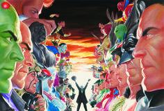 Alex Ross Absolute Justice - JLA vs Villains Mini Canvas