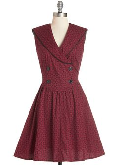 The Path to Pretty Dress. For you, the quickest way to feel your best is to don an eye-catching print. #red #modcloth