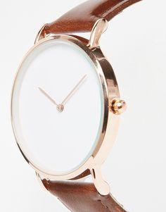 Изображение 3 из Часы с кожаным ремешком ReclaimedVintage