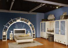 White Sea Theme Kids Bedroom Design