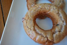 Blueberry Greek Yogurt Donuts. I highly doubt I will ever make these. But, they look excellent.