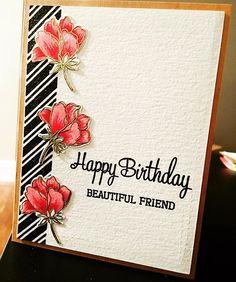 Beautiful Friend! #cards #card #floral #florals #floralcard…
