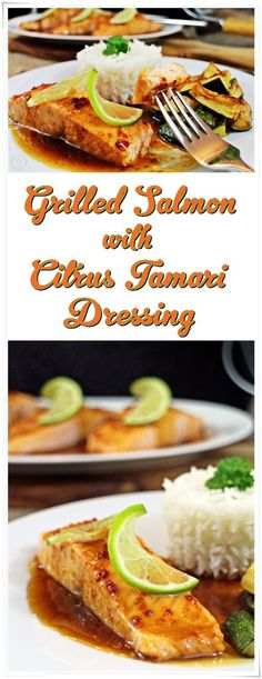 Grilled Salmon with Citrus Tamari Dressing #PowerofFrozen - a quick and healthy…