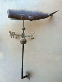 Antique Hollow Body Copper Sperm Whale American Weathervane American Folk Art