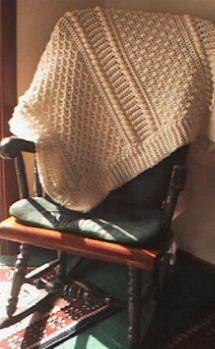 Aran Afghan (uses N hook)  ~ free pattern