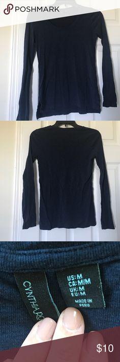 Cynthia rowley navy long sleeve Worn a few times Cynthia Rowley Tops Tees - Long Sleeve