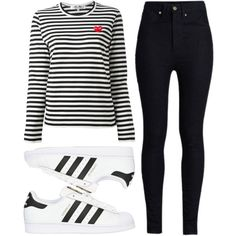 Stripes by fridaeklof on Polyvore featuring Play Comme des Garçons, Rodarte and adidas Originals