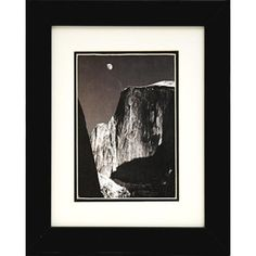 Found it at Wayfair - 'Moon and Half Dome' by Ansel Adams Framed Graphic Art #buyartforless