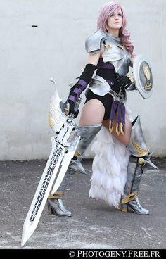 SakuraFlame: Lightning from final fantasy XIII-2 in Otaku House Cosplay Idol 2012