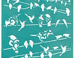 Stencil Stencils Pattern Template Bird Cage 6 by irismishly