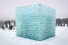 Yoko Ono & Arata Isozaki Penal Colony, 2004, ice and snow
