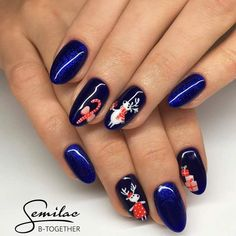 55 Unique Christmas Nail Art Gallery for Nail Art Lovers, Diy Nails Manicure, Shiny Nails, Acrylic Nail Art, Nail Art Diy, Holiday Nails, Christmas Nails, Finger, Christmas Nail Art Designs, Accent Nails