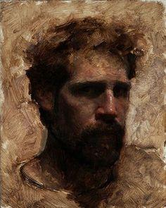 travis schlat | Travis Schlaht , Self Portrait, Age 36, oil on panel, 10 x 8 inches ...