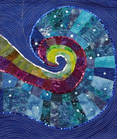 Wave Tapestry,Textile Art by Hammad