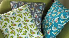 Retro Jetsons Mid Century Style Atomic Space Pillow Covers, 3 Colorways, Hand Made by Tiki Queen by TikiQueenArts on Etsy