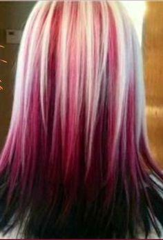 Raspberry Sundae Hair Colour