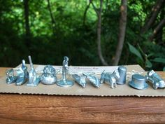 Set of 11 Full Set vintage monopoly pieces wine by CharmMeLeigh, $25.00