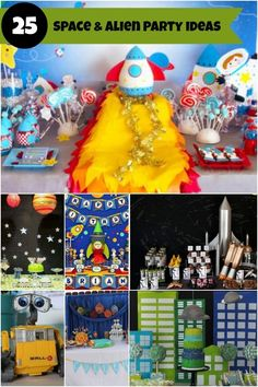 Space Alien Birthday Party Ideas www.spaceshipsandlaserbeams.com