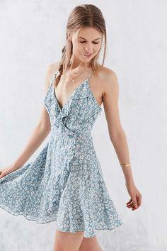 Kimchi Blue Sabina Ruffle Wrap Mini Dress - Urban Outfitters