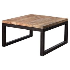 Reclaimed Wood and Metal Coffee Table (India)