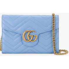 Gucci GG Marmont matelassé bag (3,875 SAR) ❤ liked on Polyvore featuring bags, handbags, shoulder bags, gucci crossbody, blue leather shoulder bag, leather shoulder handbags, leather cross body handbags and blue leather purse
