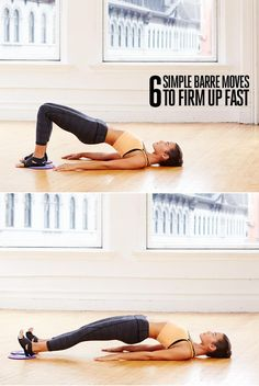 FIRM FAST WITH 6 SIMPLE BALLET-INSPIRED MOVES No longer just a dance-studio staple, the barre is the perfect fitness tool for sculpting a strong core and improving flexibility all over. This workout uses tiny but effective movements to tone both large muscles and smaller, supportive ones. There's no rest between moves, so you'll keep your heart rate up and see results faster. See the step-by-step instructions for all the moves!
