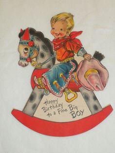 Vintage 4-year-old birthday card