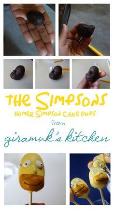 Tutorial for Homer Simpson Cake Pops! - Giramuk's Kitchen
