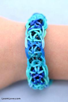 Rainbow Loom® Criss Cross Armband - http://www.rainbow-loom.nl/rainbow-loom-videos-voorbeelden/rainbow-loom-criss-cross-armband/