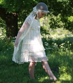 veil - Vintage 1920's First Communion Dress by LEmpresseDesigns on Etsy