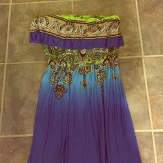 Sundress Stretch top, long flowing skirt -great as a cover up to go from the beach right to a nice dinner! Dresses Strapless