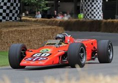 1968 STP Lotus 56 Turbine Indy Car - Following 'Mr STP', Andy Granatelli's own turbine Indy car – codenamed 'Silent Sam' – that retired just four laps from victory of the 1967 Indy 500 at the hands of Parnelli Jones, three Lotus cars were entered in the 500 mile race by Chapman, in STP colours, in 1968. Parnelli Jones drove the four-wheel drive Lotus 56 at Goodwood.