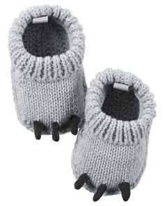 Monster Crocheted Booties from Carters.com. Shop clothing & accessories from a trusted name in kids, toddlers, and baby clothes.