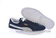 Women s Puma Suede Blue-White Cheap To Buy FAnwX e70191a54