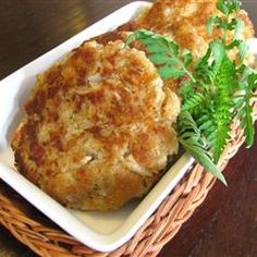 Easy Tuna Patties Allrecipes.com - can modify to make healthier, but like the gist of the idea here