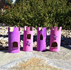 kids craft toilet paper roll castles