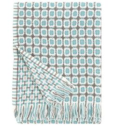 Lapuan Kankurit, Finland, CORONA wool blanket, aqua