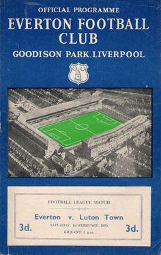 Evertoon v Luton 1957-58 match programme